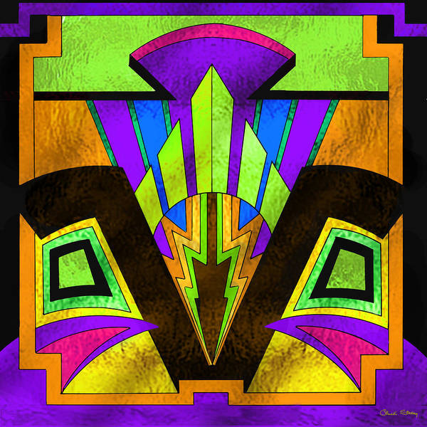 Stained Glass Digital Art - Glass Pattern 5 B by Chuck Staley