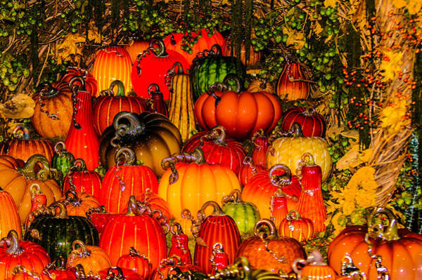 Photograph - Glass Pumpkins by Louis Dallara