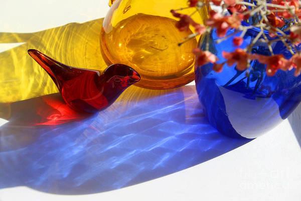 Photograph - Glass Reflections #3 by Karen Adams
