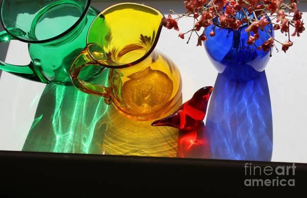 Photograph - Glass Reflections #4 by Karen Adams