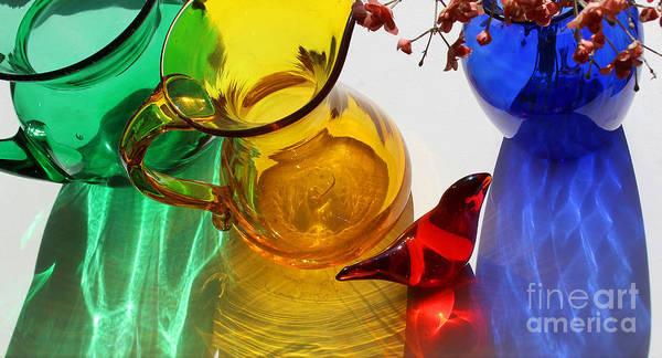 Photograph - Glass Reflections #5 by Karen Adams