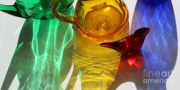 Photograph - Glass Reflections #6 by Karen Adams