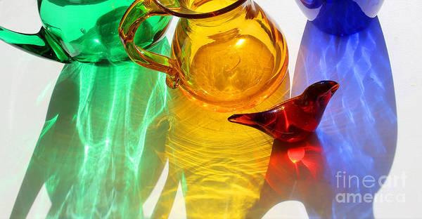 Photograph - Glass Reflections #7 by Karen Adams