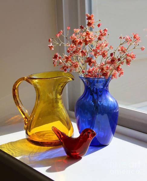 Photograph - Glass Still Life by Karen Adams