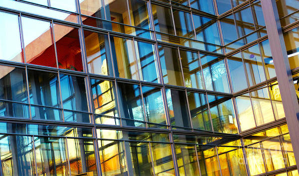 Edifice Photograph - Glass Windows Background by Carlos Caetano