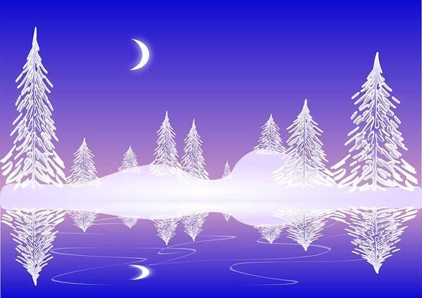 Digital Art - Glass Winter by Anastasiya Malakhova