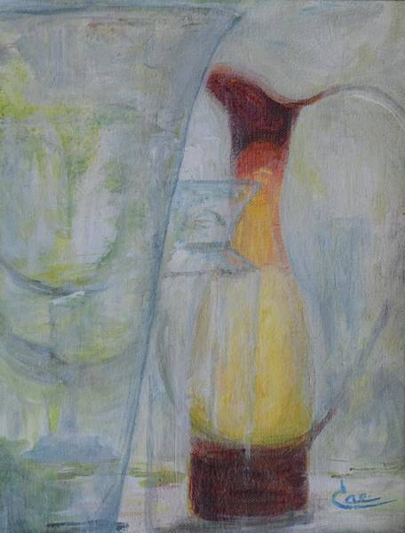 Painting - Glassware IIi by Cae Wuerth