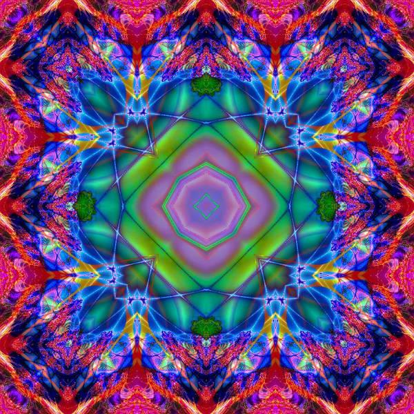 Digital Art - Glassy Reflection Kaleidoscope by Charmaine Zoe