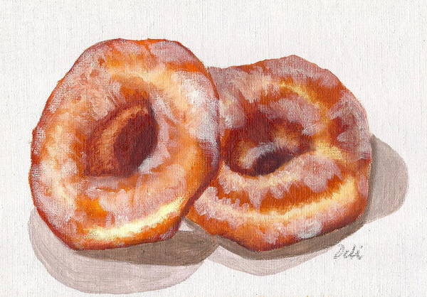 Glazed Wall Art - Painting - Glazed Donuts by Debi Starr