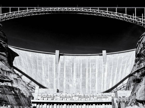 Spillway Photograph - Glen Canyon Dam by Dominic Piperata