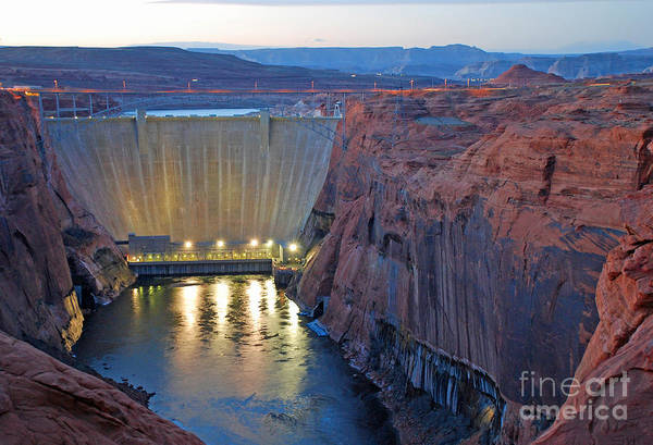 Photograph - Glen Canyon Dam Twilight by Kate Sumners