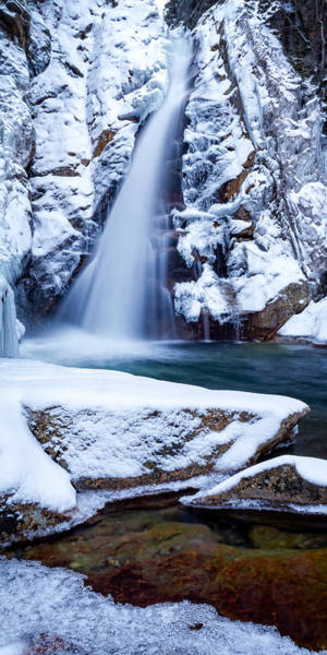 Glen Ellis Falls - Winter Beauty Art Print