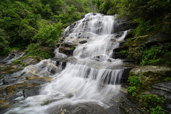 Highland Scenic Highway Wall Art - Photograph - Glen Falls - Highlands North Carolina Waterfall by Matt Plyler