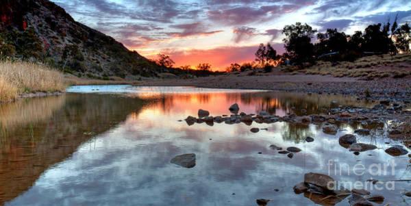 Northern Territory Photograph - Glen Helen Gorge Sunset by Bill  Robinson