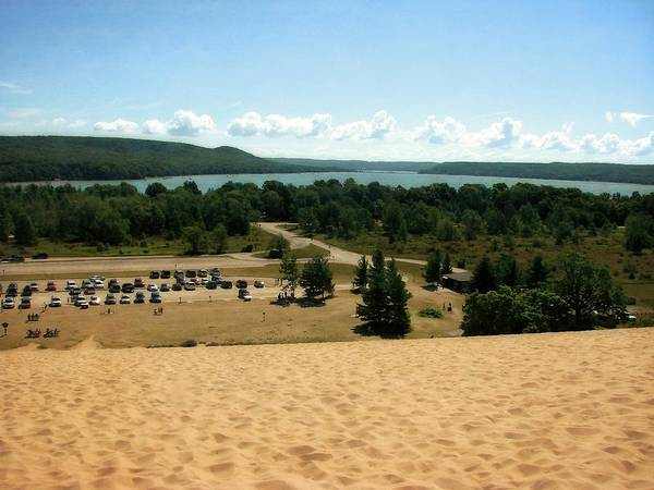 Photograph - Glen Lake From The Dune Climb by Michelle Calkins