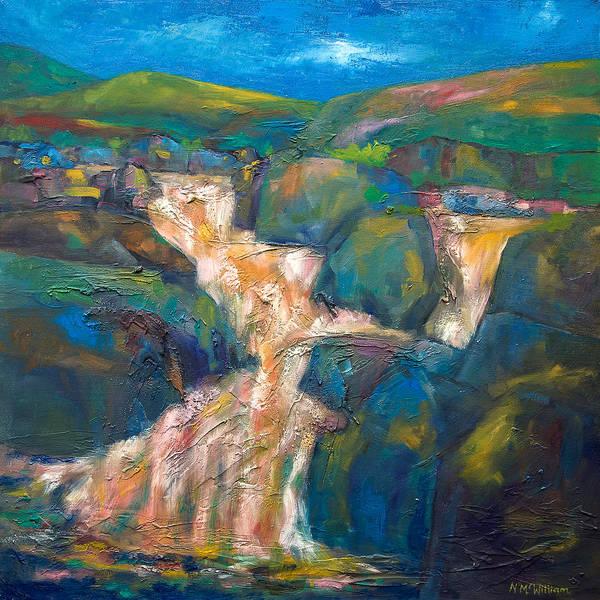 Wall Art - Painting - Glencoe Waterfall - Scotland by Niall McWilliam