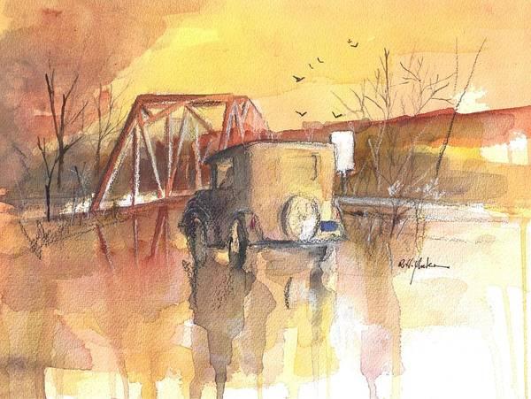 Garrett County Wall Art - Painting - Glendale Crossing by Robert Yonke
