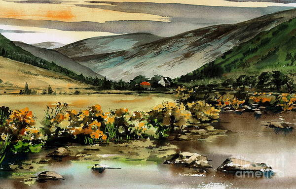 Painting - Glenmalure  Valley by Val Byrne