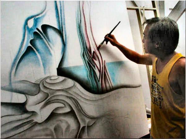 Painting - Glenn In Action 2005 by Glenn Bautista