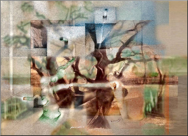 Digital Art - Glennvangoghscape 2014  by Glenn  Bautista