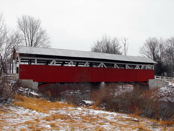 Somerset County Photograph - Glessner Covered Bridge by Clayton Kelley