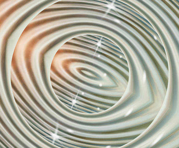 Whirl Digital Art - Glimmer 1 by Wendy J St Christopher