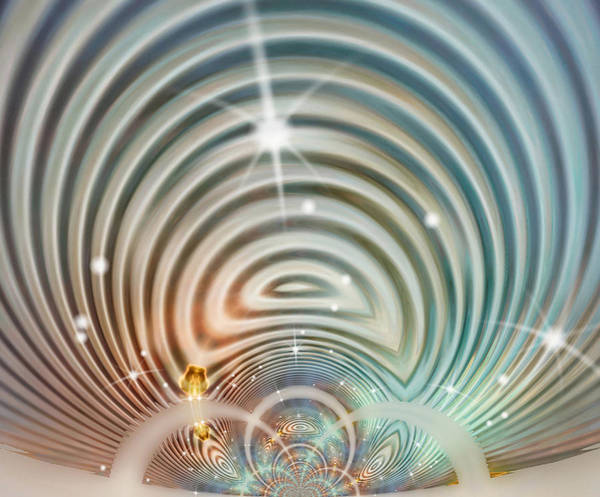Whirl Digital Art - Glimmer 3 by Wendy J St Christopher