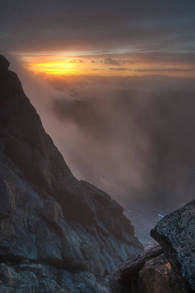 Alpine Photograph - Glimpse From The Clouds by Mike Berenson