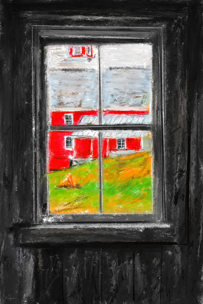 Painting - Glimpse Of Country Life- Red Barn Art by Lourry Legarde
