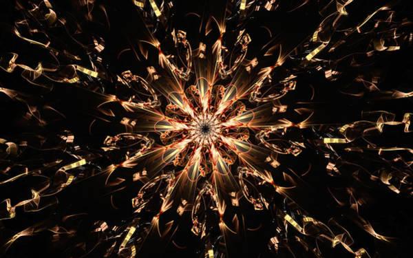 Detonation Digital Art - Glitter Detonation by Gary Blackman