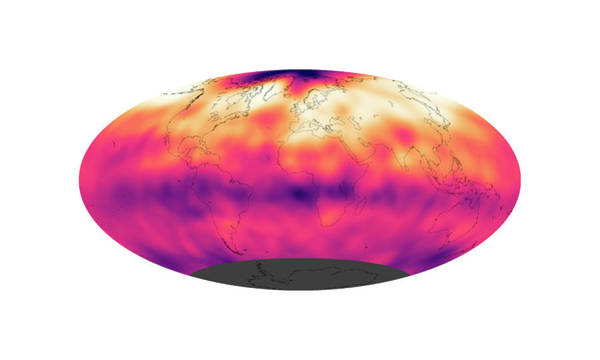 Earth Observation Wall Art - Photograph - Global Carbon Dioxide Levels by Nasa Earth Observatory