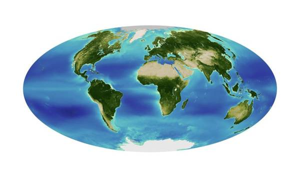 Index Photograph - Global Chlorophyll Levels by Nasa Earth Observatory/ocean Color Web/geoeye