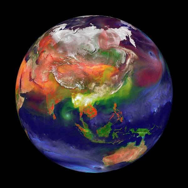Fire Ball Wall Art - Photograph - Global Fires by William Putman/nasa Goddard Space Flight Center