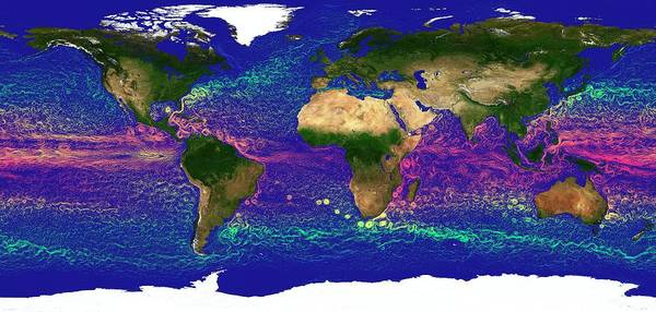Equatorial Africa Wall Art - Photograph - Global Ocean Currents by Karsten Schneider/science Photo Library