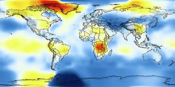 Wall Art - Photograph - Global Temperature Anomalies 1926-1930 by Nasa/science Photo Library