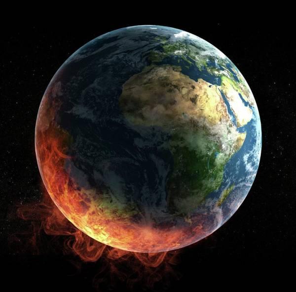 Catastrophe Photograph - Global Warming by Andrzej Wojcicki/science Photo Library