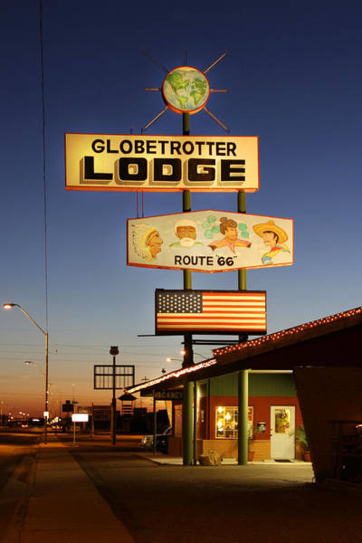 Route 66 Photograph - Globetrotter Lodge - Holbrook by Mike McGlothlen