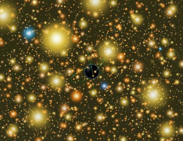 Omega Photograph - Globular Cluster Black Hole by Lynette Cook/science Photo Library