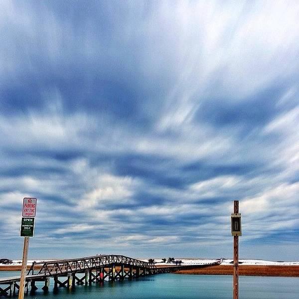 Boardwalk Wall Art - Photograph - Gloomy #boardwalk #capecod #timelapse by Sean Mcnamara