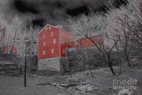 Photograph - Gloomy Looking Old Red Mill by Jim Lepard