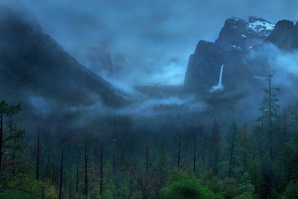 Valleys Photograph - Gloomy Mountain by Yan Zhang