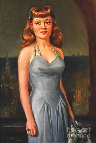 Painting - Gloria Grahame by Art By Tolpo Collection