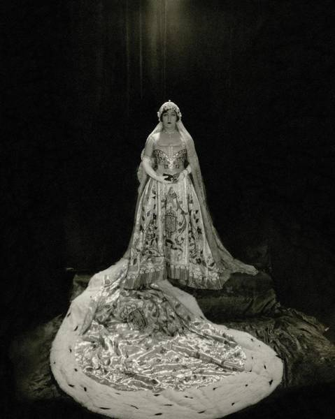 Gloria Photograph - Gloria Swanson Wearing A Costume by Edward Steichen