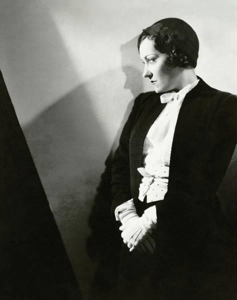 Gloria Swanson Photograph - Gloria Swanson In Profile by Toni Von Horn