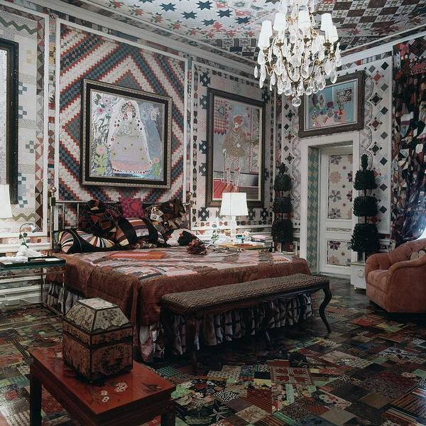 Gloria Photograph - Gloria Vanderbilt's Bedroom by Horst P. Horst