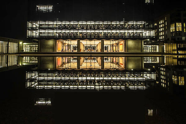 Glorious Modern Architecture At Night Art Print