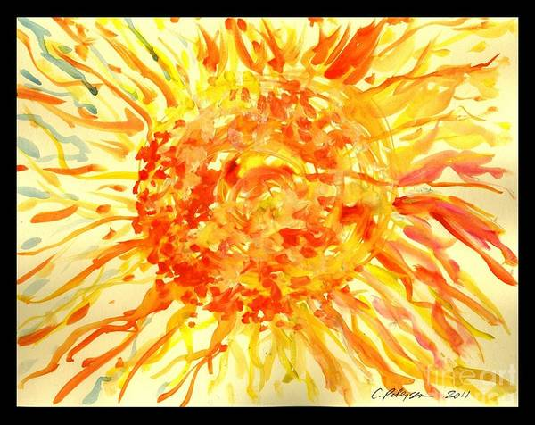 Utilitarian Painting - Glorious Sun The Ultimate Fireball by Cathy Peterson