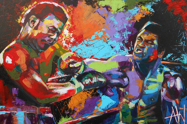 Boxing Painting - Glory Night by Angie Wright