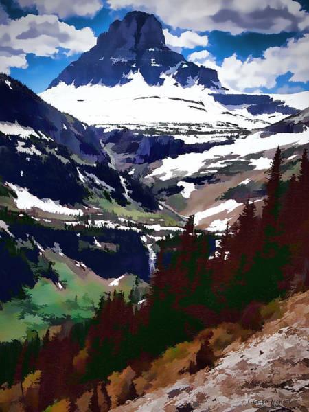 Pine Valley Digital Art - Glory Of Glacier by Jo-Anne Gazo-McKim