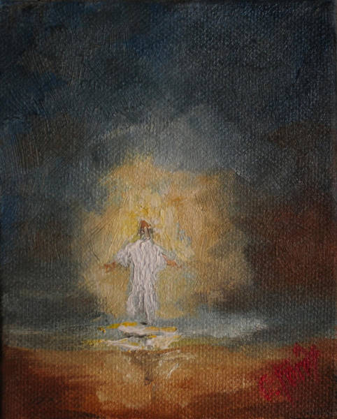 Wall Art - Painting - Glory Of The Lord by Carole Foret